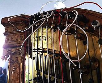 Pedal harp - Sébastien Érard harp mechanism