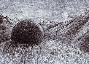 Middle-earth objects - Stone of Erech, illustration by Matěj Čadil