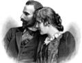 Ernst, Prince of Saxe-Meiningen and his wife Katharina Baroness von Saalfeld, 1893.png