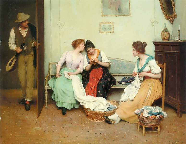 File:Eugene de Blaas The Friendly Gossips.jpg