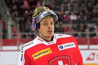 Jonas Hiller Swiss ice hockey player