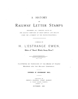 Railway stamp - A History of Railway Letter Stamps (1901) by H. L'Estrange Ewen