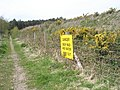 Explicit notice on bridleway adjacent to Minsted Sandpit - geograph.org.uk - 778640.jpg