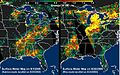 Extensive pattern of rain water deposited by Hurricanes Katrina and Rita on land surfaces.jpg