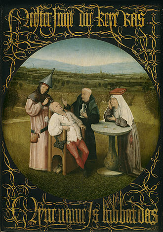 History of surgery - The Extraction of the Stone of Madness (The Cure of Folly) by Hieronymous Bosch