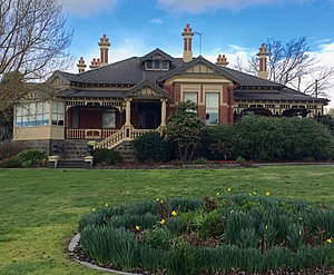"Eyres House, Soldiers Hill, Ballarat - Eyres House, formerly known as ""Esleta"" and then as ""Balmoral"""