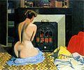 Félix Vallotton - Femme nue devant une salamandre (1900).jpg