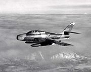 F-84F 162nd FS Ohio ANG in flight 1960s