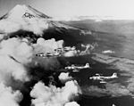 F2H-3 Banshees of VC-4 over Mt. Fuji in December 1953.jpg