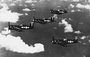 VA-12 (U.S. Navy) - Image: F4U 4s VBF 4 near Saipan 1946