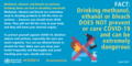 FACT- Drinking methanol, ethanol or bleach DOES NOT prevent or cure COVID-19 and can be extremely dangerous.png