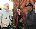 FEMA - 43990 - DHS Secretary Janet Napolitano and Governor Phil Bredeson listen to a resident in Tennessee.jpg