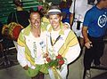 FINA World Champs 1991 with Australian Team Coach Dick Campion.jpg