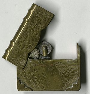 Lighter - A trench art lighter from the Battle of Verdun (1916)
