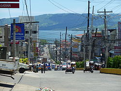 F.S. Pajares Ave. in Pagadian City showing the view of Illana Bay in the background
