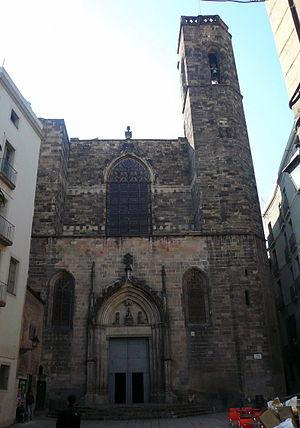 Basilica of Saints Justus and Pastor - Image: Façana de l'església dels sants Just i Pastor