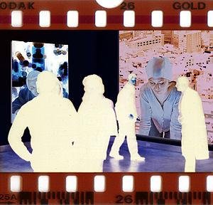 Fabrice de Nola - Inverse, installation view, New York, 1997. 35 mm negative film.