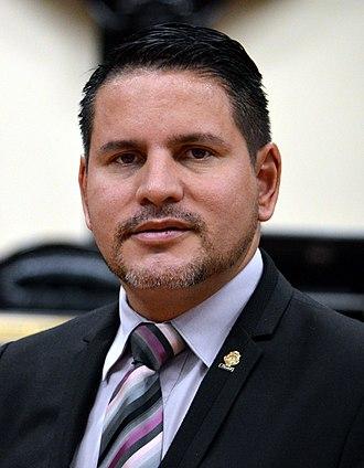 2018 Costa Rican general election - Image: Fabricio Alvarado Muñoz Asamblea Legislativa 2 (cropped)