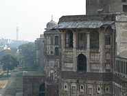 Facades along the walls of Lahore Fort