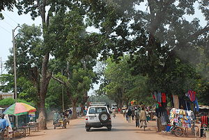 Est Region (Burkina Faso) - The main street in Fada N'gourma