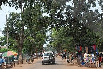Est Region (Burkina Faso) - The main street in Fada N'gourma