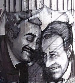 Ο Φαλκόνε και ο Μπορσελίνο σε μια Καλαβριανή τοιχογραφία.