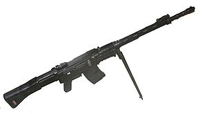 SIG SG 510 - Stgw 57 with folded down iron sights on its bipod.