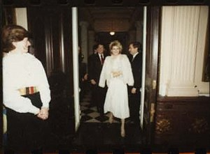 Fawn Hall - Fawn Hall attending a White House Christmas party in 1984