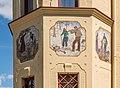 Feldkirchen Himmelberger Strasse 5 Antoniusheim Eckturm Lobisser-Fresken 28062016 2937.jpg