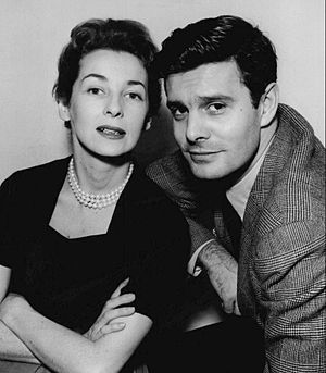 Felicia Montealegre - Montealegre and Louis Jourdan in 1955.