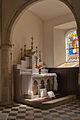 Fermanville Église Saint-Martin Chœur Bas-Côté du Sud Autel du Sacré-Cœur 2013 09 01.jpg