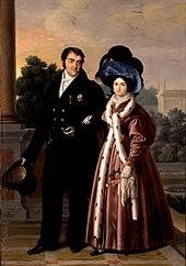 Ferdinand VII and María Cristina by Luis de la Cruz y Ríos (1832) (Source: Wikimedia)
