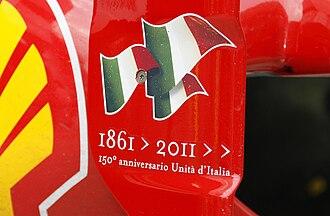 2011 Malaysian Grand Prix - Ferrari were celebrating the 150th anniversary of the unification of Italy