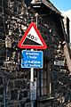 Ffordd Pen Llech slope sign.jpg
