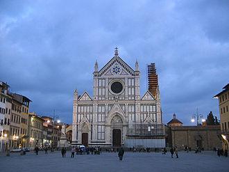 Piazza Santa Croce - The square, with the Basilica of Santa Croce.