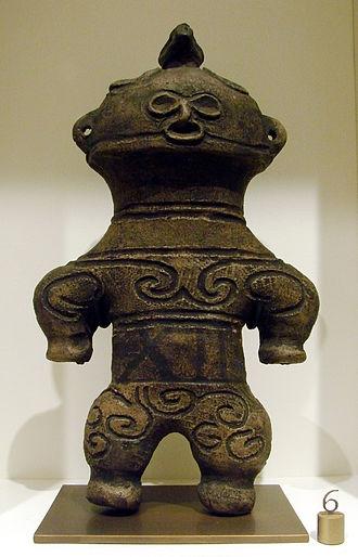Dogū - Figurine Dogū, Jomon. Musée Guimet (70608 3).