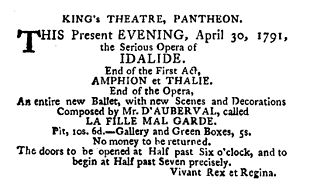 Fille Mal Gardee -Advertisement for the 1st London Production -1791.jpg