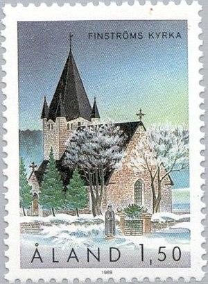 Finström - Postage stamp, Finland, 1989.