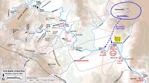 Battle of Blackburn's Ford - Image: First Bull Run July 18