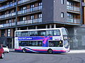 First South Yorkshire Volvo B9TL YN58 ETV 37527 at the Sphere, E16. Park & Ride service Olympic games. (7706131134).jpg