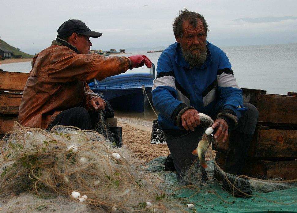 Fishermen in the Katun, Baikal