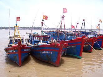 Đồng Hới - Fishing boats in Đồng Hới.