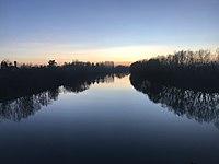 Fiume Tanaro al tramonto.jpg