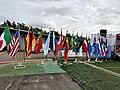 Flags at Helsinki Cup 2019.jpg