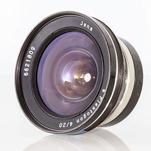 "Carl Zeiss AG - VEB Zeiss Jena Flektogon lens engraved merely ""Jena"", as exported to West Germany (1967)"
