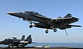 Flickr - Official U.S. Navy Imagery - A jet lands on the flight..jpg