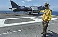 Flickr - Official U.S. Navy Imagery - Sailor clears AV-8B for launch..jpg