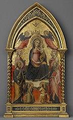Madonna mit vier Heiligen und Engeln (?)