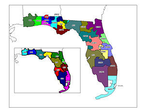 Local access and transport area - Map of FL 5-digit LATAs