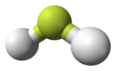 Ball-and-stick model of fluoronium